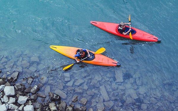 Canoe kayak près du Mas de Thau